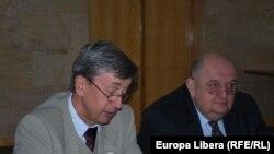 Ambasadorul rus Valeri Kuzmin şi viceministrul rus al culturii Pavel Horosilov