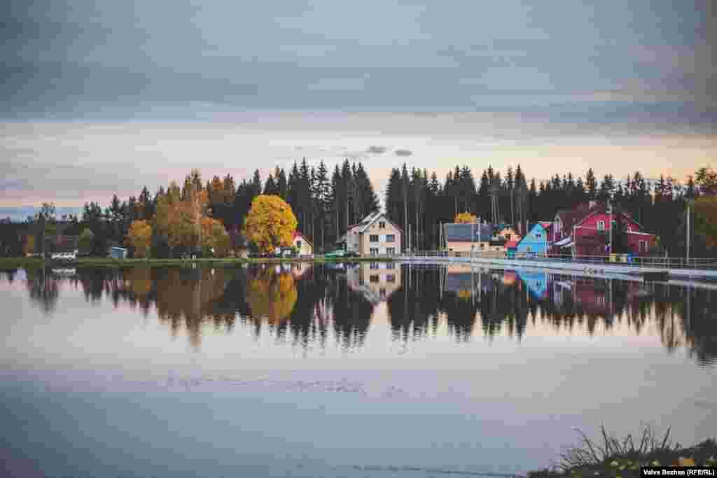 A lake near the hunting lodge
