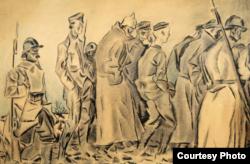 Iosef Iser, Prizonieri germani în Primul Război Mondial, 1917-1918 (Foto: Proiect J-Art)