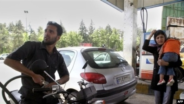 At the pump in Tehran