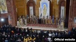 Церемония освящения армянской кафедральной церкви Преображения Господня в Москве, 17 сентября 2013 г.