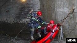 عملیات نجات در یکی از کانالهای مشهد