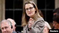 Христя Фріланд, міністр закордонних справ Канади