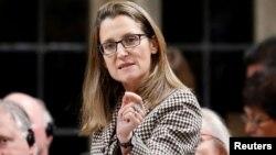 Kanadanın xarici işlər naziri Chrystia Freeland