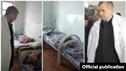 Киргистански власти во посета на повредените во пограничниот инцидент