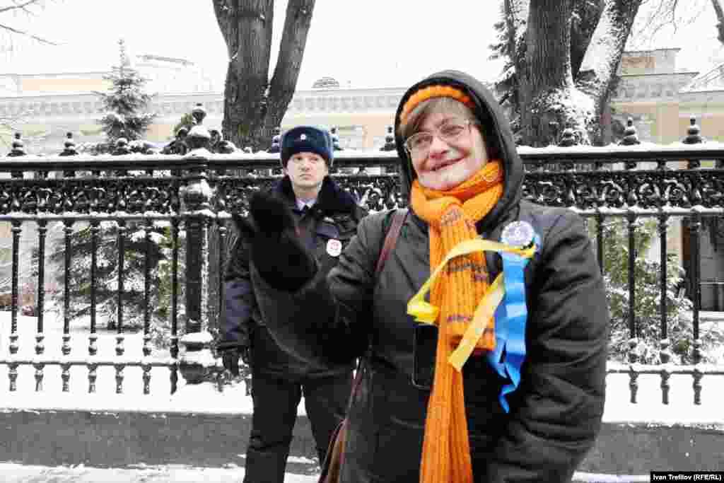 """Московская акция поддержки """"Евромайдана"""". Посольство Украины"""