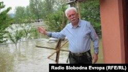 RSE izvještač Branko Vučković na mjestu poplava