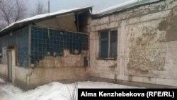Одно из зданий бывшего пионерлагеря. Алматы, 16 января 2013 года.