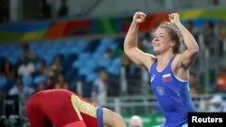 Olympic Rio Kyrgyzstan Aisuluu Tynybekova 1/2 Freestyle Wrestling
