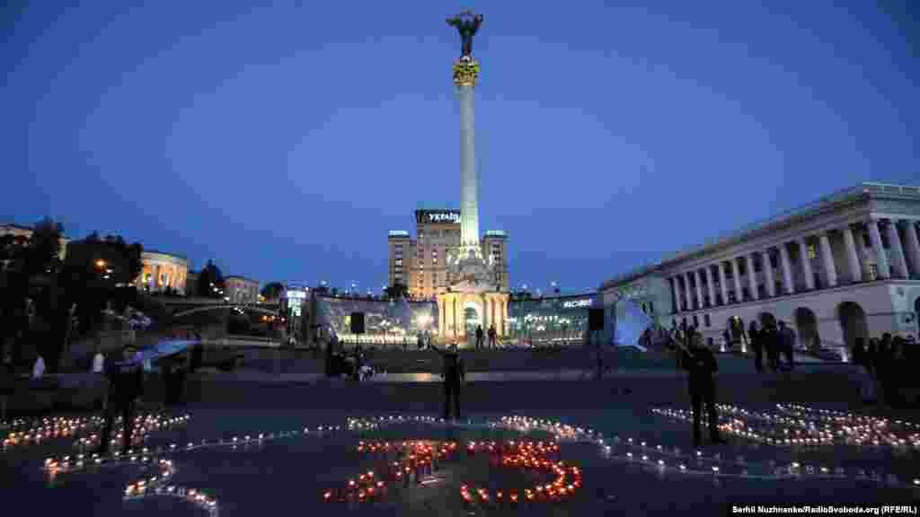 «Запали вогонь у своєму серці»: акція в Києві, приурочена до 73-ї річниці депортації кримськотатарського народу, 18 травня 2017 року