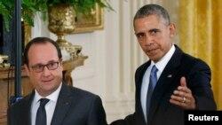 Франсуа Олланд (Л) і Барак Обама