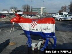 Sa prosvjeda hrvatskih mljekara, veljača 2012.