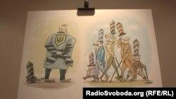 Виставка українських карикатур. Прага, 7 липня 2015