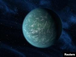 Ilustracija planete Kepler 22b