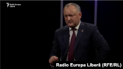 Președintele Igor Dodon în studioul Europei Libere, Chisinau, martie 2018