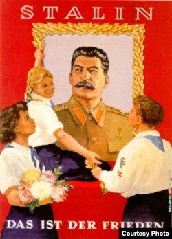 Imagine de propagandă a epocii staliniste în Germania de Est