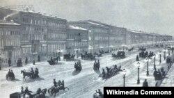 Неўскі праспэкт ў 1856 годзе.
