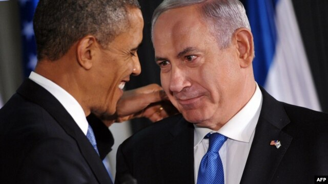 U.S. President Barack Obama (left) and Israeli Prime Minister Benjamin Netanyahu at a joint press conference following talks in Jerusalem on March 20.