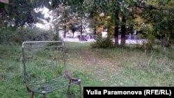 Берег пруда - главное место отдыха в Славяновке