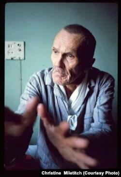 Варлам Шаламов в доме для инвалидов и престарелых № 9, Москва, февраль 1980 года. Фото Кристины Милетич