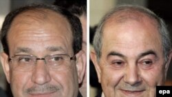 The party of Iyad Allawi, right, edged out current Prime Minister Nuri al-Maliki's bloc, but the process of forming a government is just beginning.