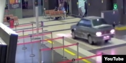 Officials said damage worth millions of rubles was done when a man drove his car hundreds of meters through Tatarstan's international airport in Kazan.