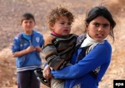 Сирійські діти в таборі для біженців. Азрак, Йорданія, січень 2016 року
