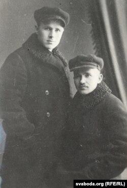 Максім Гарэцкі (справа) з братам Гаўрылам