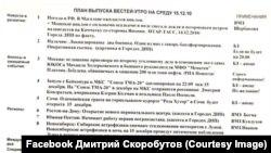 План випуску російських «Вестей» із «стоп-листом»