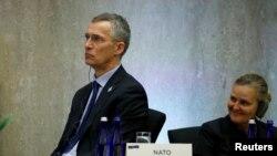 Secretarul-general Nato, Jens Stoltenberg, miercuri, la Departamentul de Stat american