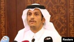Qatar's Foreign Minister Sheikh Muhammad bin Abdulrahman al-Thani