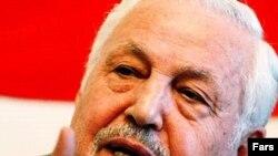 براهیم یزدی دبیر کل نهضت آزادی ایران. (عکس از فارس)