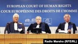 Pamje nga Gjykata Evropiane për të Drejtat e Njeriut në Strasburg