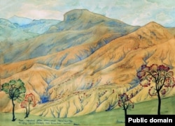 Картина Максиміліана Волошина «Пагорби Коктебеля»