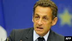 French President Sarkozy after the EU emergency summit on September 1