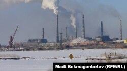 Балқаш мыс қорыту зауыты. Қарағанды облысы, 10 ақпан 2013 жыл.
