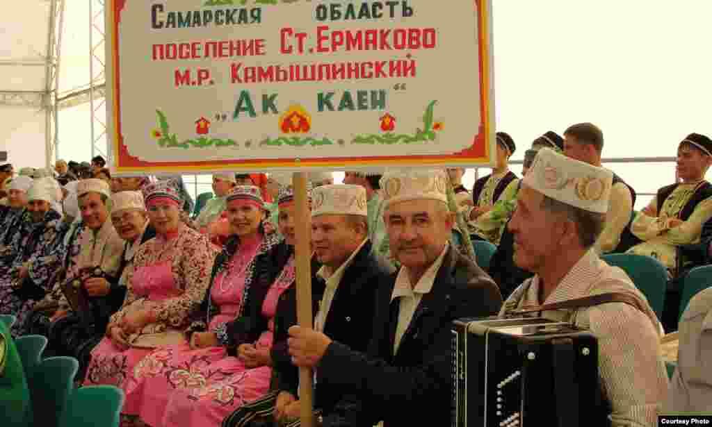 """Самар өлкәсенең """"Ак каен"""" фольклор ансамбле"""