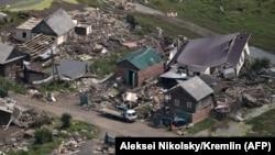 Последствия наводнения в городе Тулун Иркутской области России. 19 июля 2019 года.