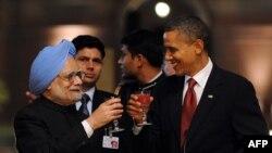 Барак Обама и Манмохан Синг во Њу Делхи, 08.11. 2010.
