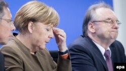 Ангела Меркель на пресс-конференции в Берлине