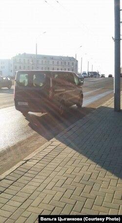 Машына, на якой зьвезлі Багуслава Цыганкова