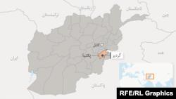 موقیعت پکتیا در نقشه افغانستان