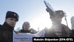 Протести за ослободувањ на рускиот опозициски активист
