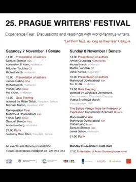 در نخستین برنامه اعلام شده از سوی فستیوال نام دولتآبادی و نویسنده اسرائیلی در دو برنامه در کنار هم قرار داشت.