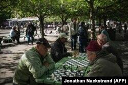 Шахматисты в Стокгольме, 29 мая 2020 года