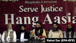 FILE: Leaders of Islamic political party Tehrik Labaik Ya RasoolAllah, opposed the release of Asia Bibi.