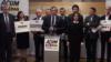 """Liderii Blocului """"Acum"""", Maia Sandu, Andrei Năstase, Igor Munteanu, la o conferință de presă la Chișinău"""