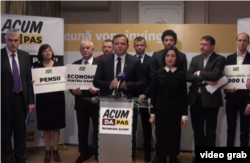 La conferința de presă din noiembrie la care a fost anunțată constituirea blocului electoral ACUM