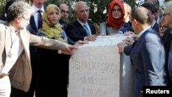 Церемония памяти Джамаля Хашогги, Стамбул, 2 октября 2019 года
