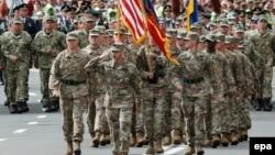 Підрозділ армії США на параді з нагоди Дня Незалежності України. Київ, 24 серпня 2017 року